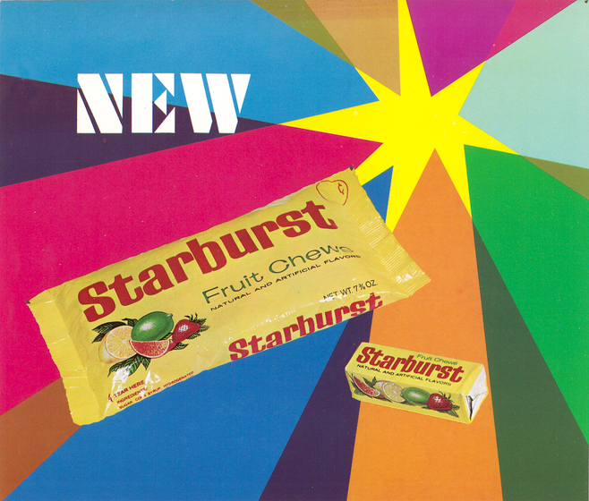 Starburst Fruit Chews negli anni '60